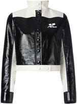 Courreges cropped jacket - women - Cotton/Polyurethane/Acetate/Cupro - 34