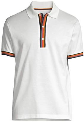 Paul Smith Artist Stripe Pique Polo Shirt