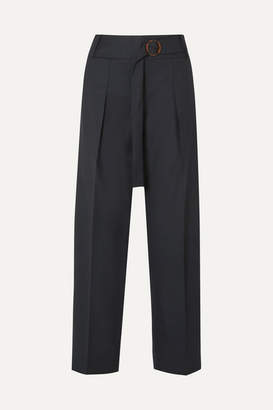 Victoria Victoria Beckham Victoria, Victoria Beckham - Striped Twill Tapered Pants - Navy