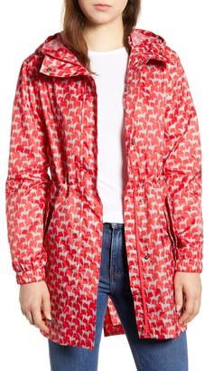 Joules Print Waterproof Packaway Raincoat