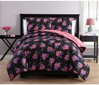 Better Homes & Gardens Better Homes and Gardens Floral Pink Pintuck Reversible Comforter Set
