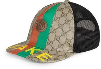 Gucci 'Fake/Not' print baseball hat