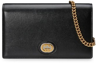 Gucci Leather Chain Card Case Wallet