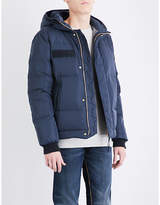 True Religion Hooded quilted shell-down jacket