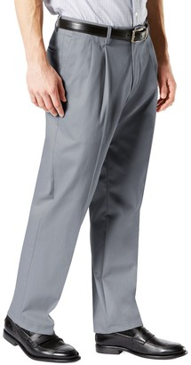 Dockers Men's Signature Khaki Lux Classic-Fit Stretch Pleated Pants