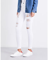 Good American Good Legs ripped skinny high-rise jeans