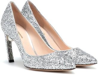 Nicholas Kirkwood Mira Pearl 90 glitter pumps