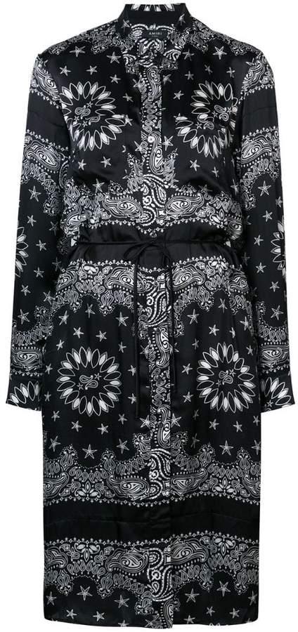 Amiri bandana print shirt dress