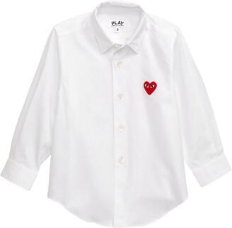 Comme des Garcons Heart Applique Dress Shirt