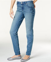 Style&Co. Style & Co. Star-Embroidered Skinny Jeans, Only at Macy's