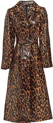 Miu Miu leopard print trench coat