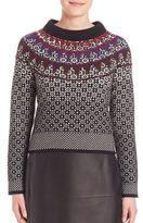 Bottega Veneta Jacquard Needlepunch Cashmere Sweater