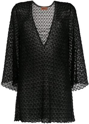 Missoni Mare lace-up embroidered dress