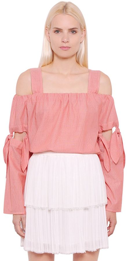 Designers Remix Open Shoulder Soft Light Cotton Top