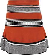 Sandro Jella striped stretch-knit mini skirt