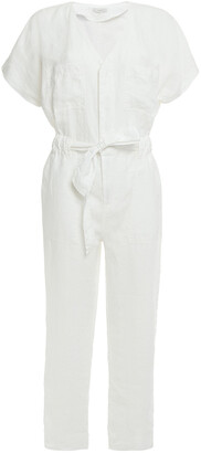 Joie Belted Linen Jumpsuit