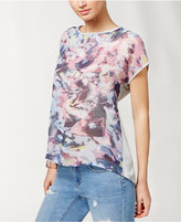 Vince Camuto TWO by Sheer Printed High-Low T-Shirt