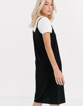 JDY Diana slip dress with t-shirt