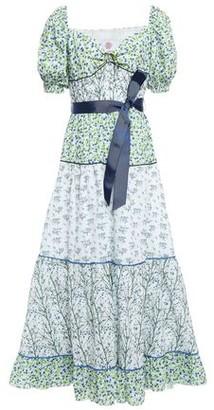 Gül Hürgel Gathered Floral-print Cotton Midi Dress