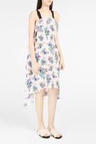 MSGM Floral-Print Waterfall Dress