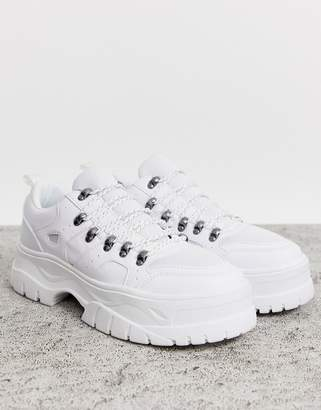 Asos Design DESIGN sneakers in white with hiker details and chunky sole