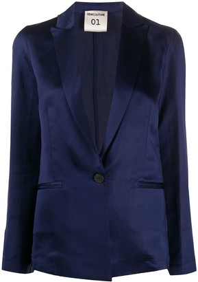 Semi-Couture Single-Breasted Fitted Blazer
