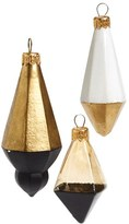 Nordstrom 'Two Tone Gems' Handblown Glass Ornaments (Set of 3)