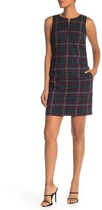 Trina Turk Plaid Sleeveless Mini Dress