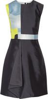 Raoul Raine paneled wool and silk-blend mini dress