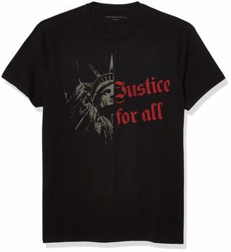 John Varvatos Men's Short Sleeve Crew TEE-Liberty Justice