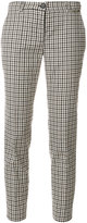 Twin-Set plaid printed cropped trousers