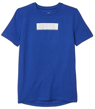 Under Armour Kids Football Branded Stack Tee (Big Kids) (Royal/Halo Gray/White) Boy's Clothing