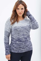 Forever 21 Plus Size Marled Gradient Knit Sweater
