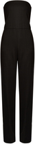 Stella McCartney Malorie strapless wide-leg wool jumpsuit