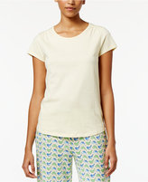 Charter Club Scoop-Neck Cotton Pajama T-Shirt, Only at Macy's
