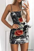Forever 21 Sequin Floral Applique Dress