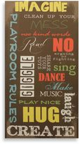 Bed Bath & Beyond Playroom Rules Canvas Wall Art