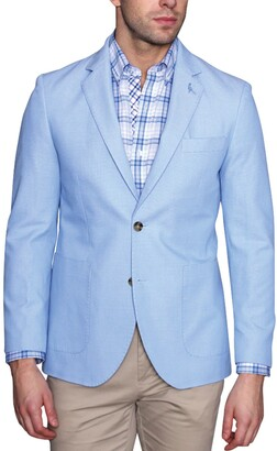 Tailorbyrd Textured Basket Weave Two Button Notch Lapel Modern Fit Sport Coat