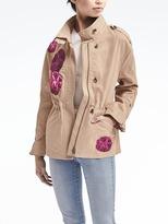 Banana Republic Embroidered Military Jacket