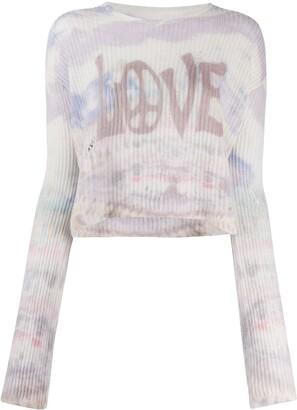Amiri Intarsia Knit Cashmere Jumper