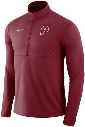 Nike Men's Maroon Philadelphia Phillies Dry Element Half-Zip Performance Pullover