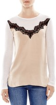 Sandro Ame Silk-Front Top