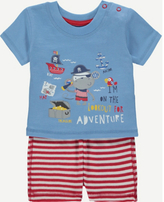 George 2 Piece T-shirt and Shorts Set