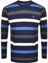 Paul & Shark Paul And Shark Long Sleeved Striped T Shirt Navy