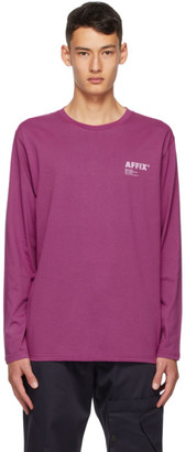 AFFIX Purple Standardized Logo Long Sleeve T-Shirt