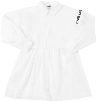 Karl Lagerfeld Paris Cotton Poplin Dress
