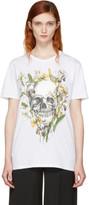 Alexander McQueen White Iris Skull T-shirt