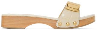 Jacquemus SSENSE Exclusive Beige Croc Les Tatanes Sandals