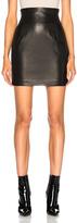 Alexandre Vauthier Leather Mini Skirt in Black.