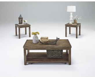 Rosecliff Heights Nashua 3 Piece Coffee Table Set Rosecliff Heights Color: Driftwood